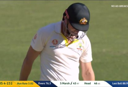 Shaun Marsh can't make India pay for drop