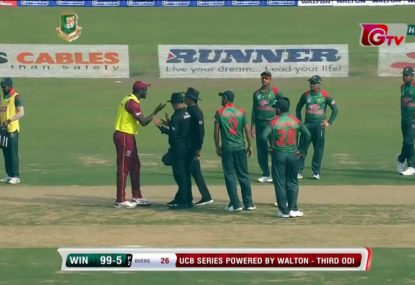 Umpiring blunder sees WI captain out off what should have been a rare no-ball