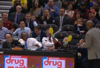 'A Delly tray!': Dellavedova's desperate hustle cleans up commentator