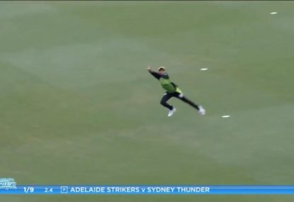 Incredible catch in the WBBL