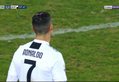 Cristiano Ronaldo's hilariously lacklustre free kick flies into orbit