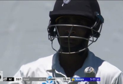 NZ opener's brain fade on the last ball before lunch