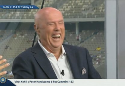 Skull has his colleagues in stitches with another of his famous one-liners