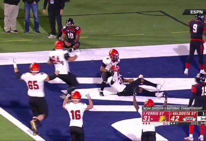 College Football decider dishes up freak touchdown