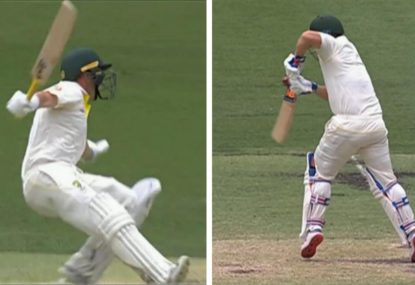 Aussie openers suffer painful blows from the Indian pace attack