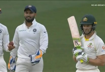 Test match sledging in full swing as Paine & Kohli share hilarious exchange