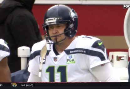 Seattle give up 97-yard TD return after kicker virtually bails on tackle attempt