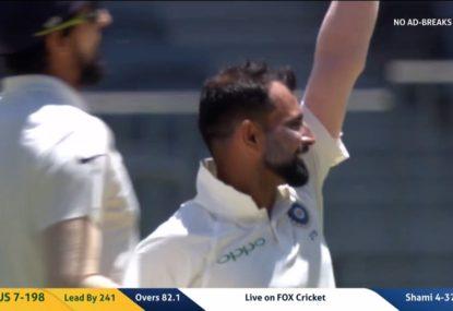 Shami destroys Australia with devastating spell