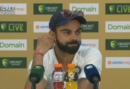 Kohli says banter with Tim Paine is not important enough to talk about