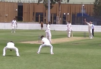 The glorious footage of a bowler and his slip working in perfect harmony
