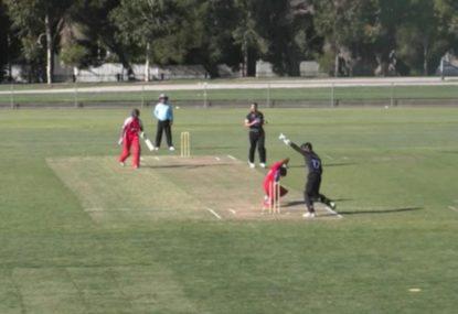 Keeper's lightning reflexes punishes batsman's airborne back leg