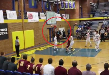 High schooler brings down a dunk so good he breaks the backboard