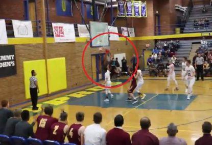 High schooler brings down a dunk so good he breaks the backboard