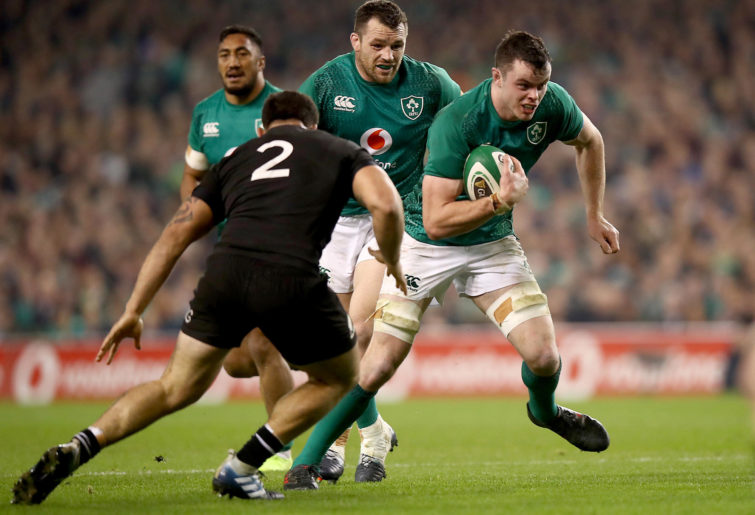 James Ryan of Ireland makes a break