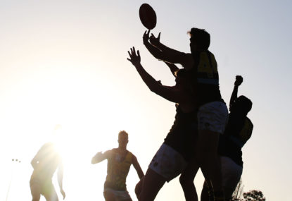 What does footy training look like during the pandemic?