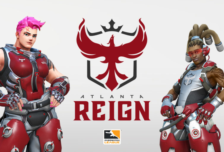 Zarya and Lucio in Atlanta Reign colours