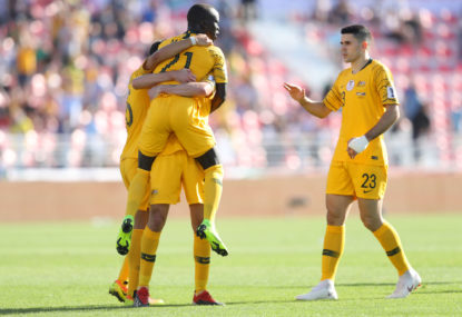 Socceroos defeat Palestine 3-0, Sainsbury suspended