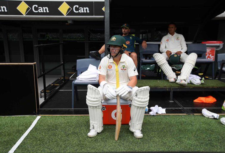 Marcus Harris sitting on the boundary
