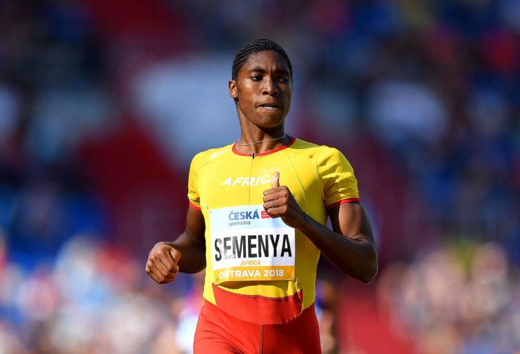 Caster Semenya runs.