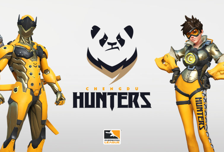 Genji and Tracer in Chengdu Hunters colours.