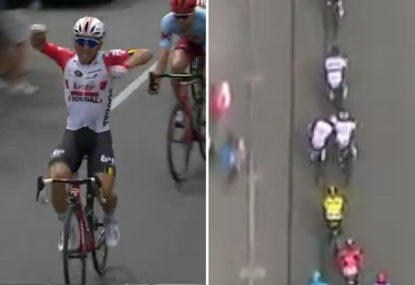 Caleb Ewan sensationally stripped of Tour Down Under stage win after headbutt