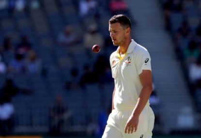 Australia in control despite Josh Hazlewood's injury