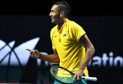 Hewitt full of praise for team man Kyrgios