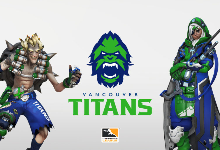 Junkrat and Ana in Vancouver Titans colours.