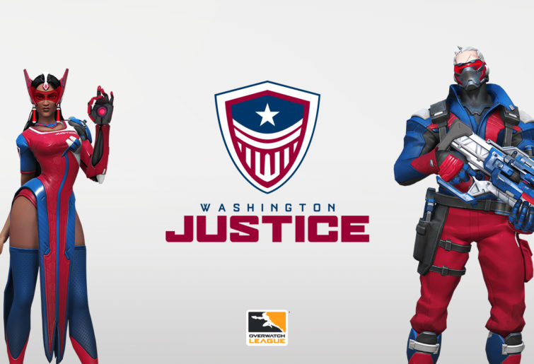 Symmetra and Soldier: 76 in Washington Justice colours.