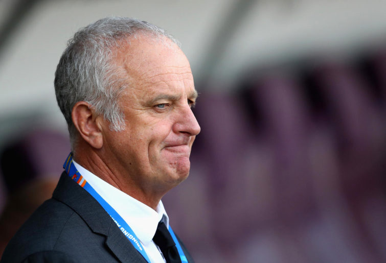 Graham Arnold head coach of Australia looks on