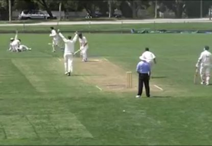 Diving slip plucks classic one-hander just millimetres off the turf