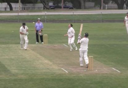 Club cricketer demolishes the bowling with a six-hitting rampage