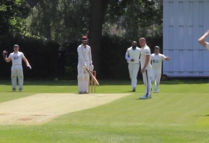 Umpire gifts batsman spare life after missing obvious wicket