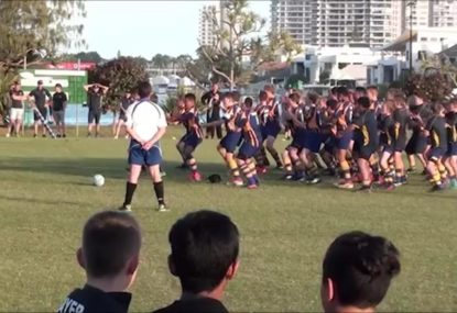 12-year-old touring junior kiwi side deliver passionate Haka