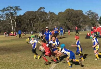 The powerful 7-year-old dominating junior footy