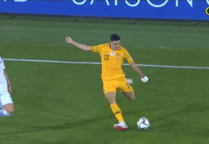 Tom Rogic puts one on a platter to help restore Socceroos advantage