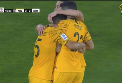 Socceroos triumph in a five-goal thriller over Syria