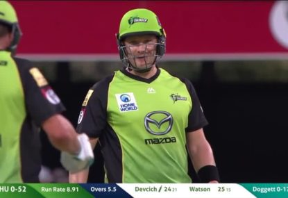Symonds gives it to former teammate Watson