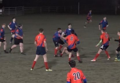 18-year-old, 124kg monster prop goes on big boppa rampage