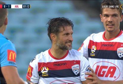 Vince Lia scores rare goal to put Adelaide ahead