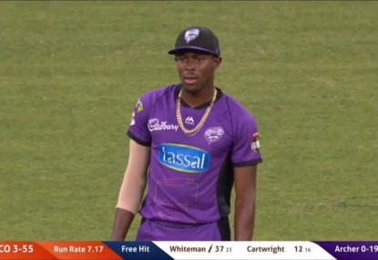 Jofra Archer banned from the attack after nearly sending ball into orbit