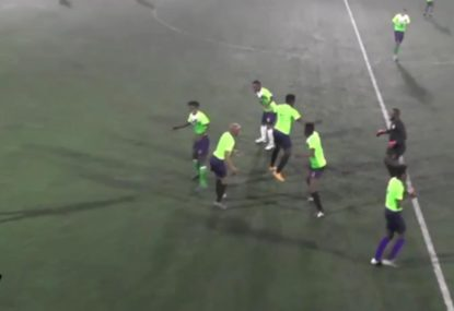 Amateur footballers put on hilariously random dancing celebration
