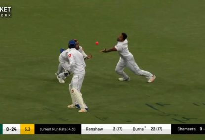 Joe Burns falls to relay slips catch as opening prospects struggle again