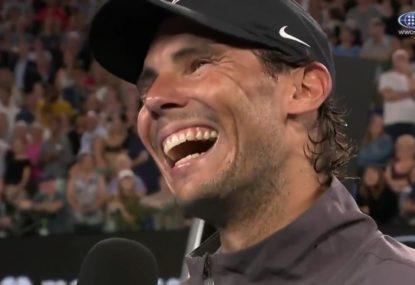 Rafa has Australian Open crowd rolling in the aisles
