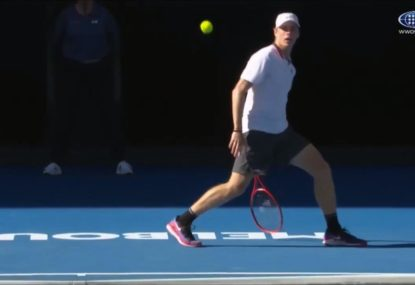 Commentating Nick Kyrgios delighted as Canadian gun tries a 'tweener