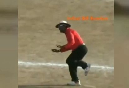 Indian umpire puts Billy Bowden to shame with next level antics