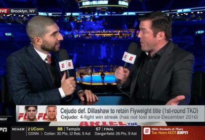 Chael Sonnen fires up over Cejudo/Dillashaw stoppage