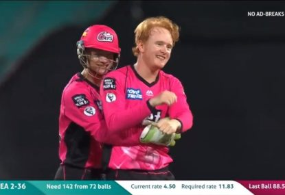 Australia's favourite ginger gets his first BBL wicket
