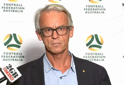 FFA chief eager to cut press conference short on Stajcic sacking