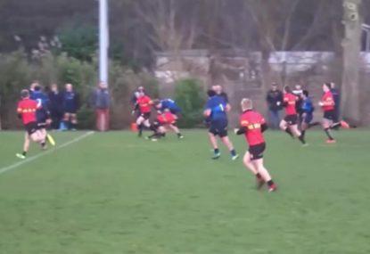 Crunching tackle abruptly halts runaway kick return